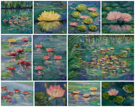 ElevenWaterLilyPaintings