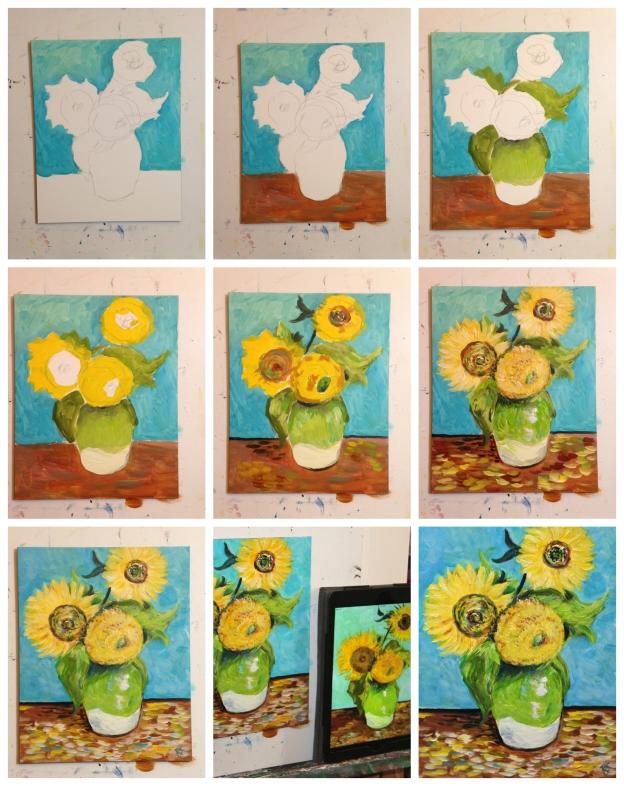 VincentsSunflowersCollage