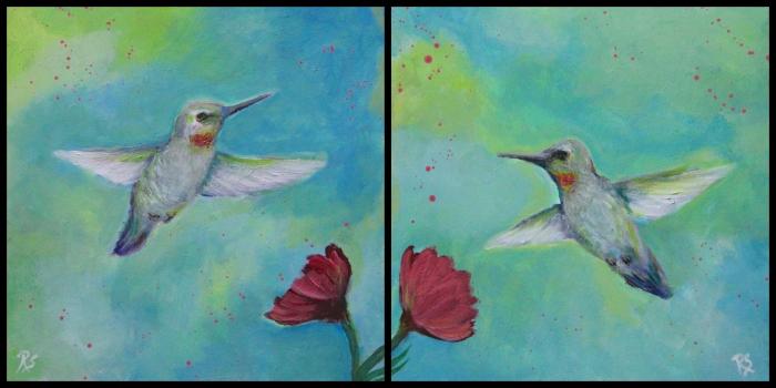 HummingbirdPainting2Collage