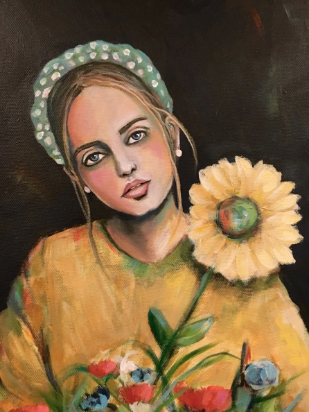 2GirlWithASunflower