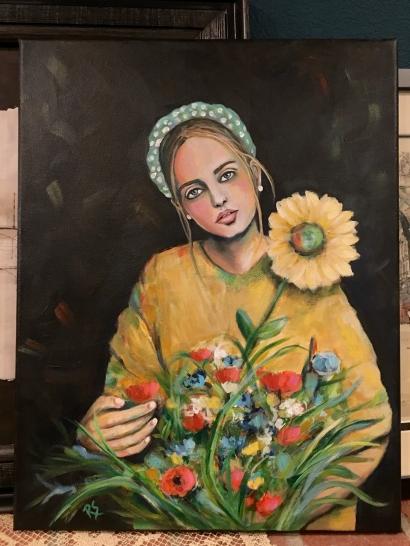 4GirlWithASunflower